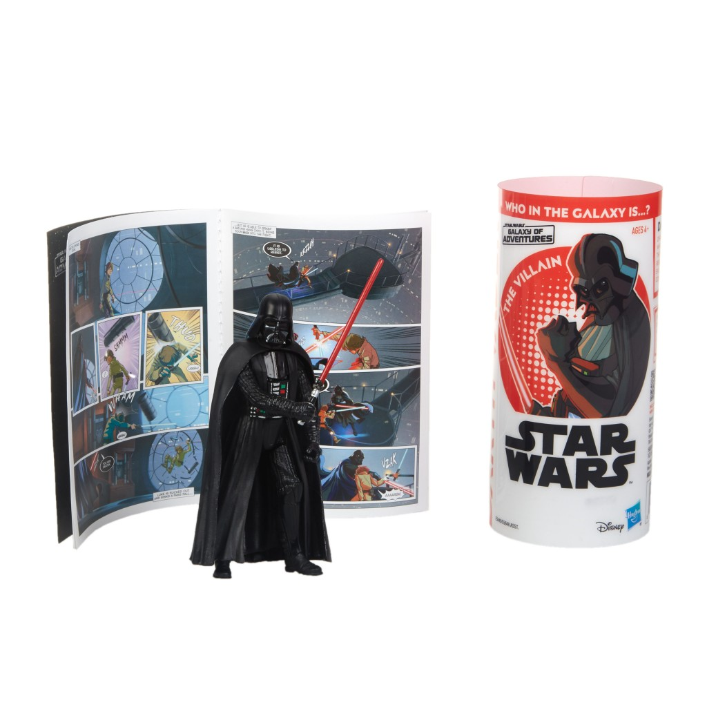 STAR WARS GALAXY OF ADVENTURES DARTH VADER Figure and Mini Comic (2)