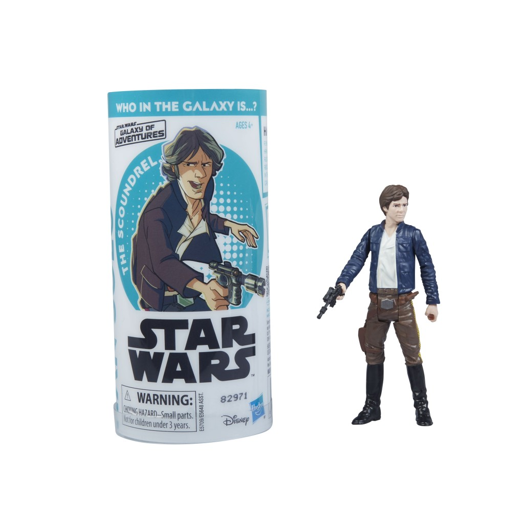 STAR WARS GALAXY OF ADVENTURES HAN SOLO Figure and Mini Comic (1)