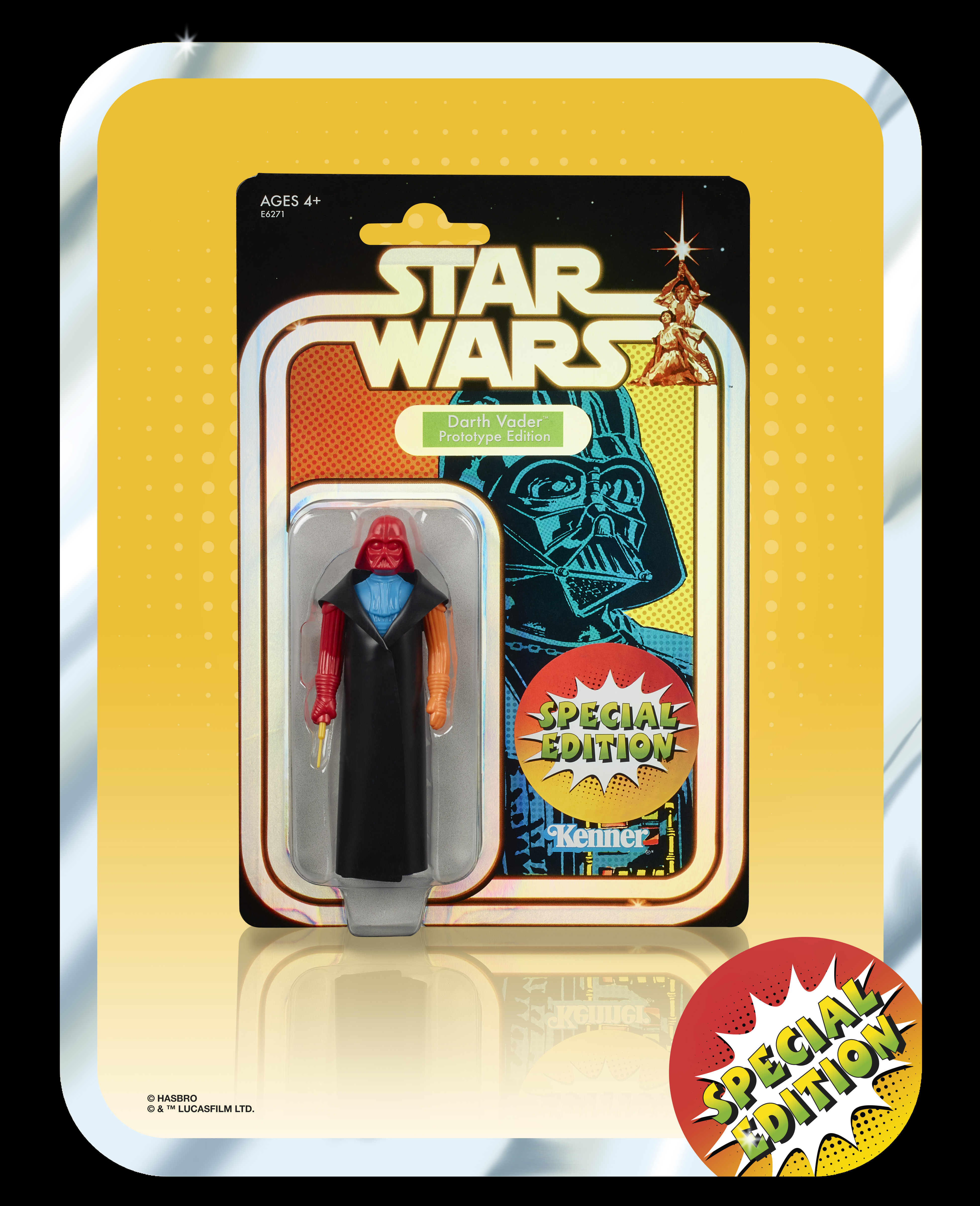 STAR WARS SPECIAL EDITION RETRO PROTOTYPE 3.75-INCH DARTH VADER Figure  - in pack (2)
