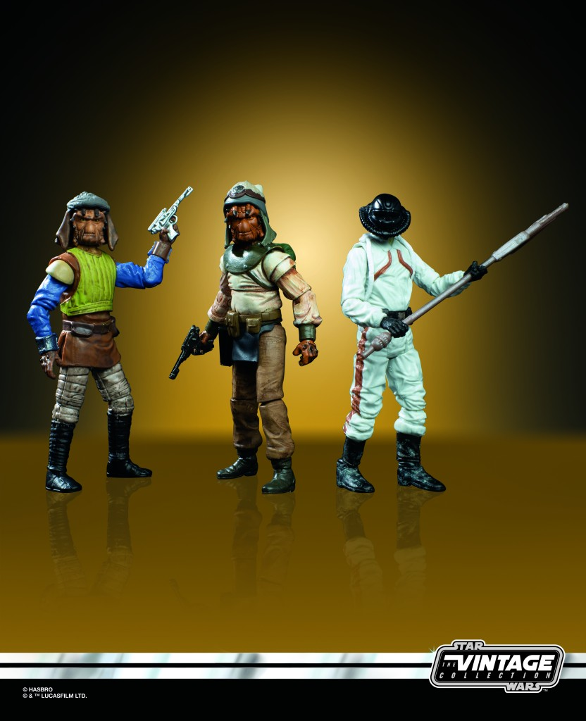 STAR WARS THE VINTAGE COLLECTION TATOOINE SKIFF 3.75-INCH 3-PACK  (oop 1)