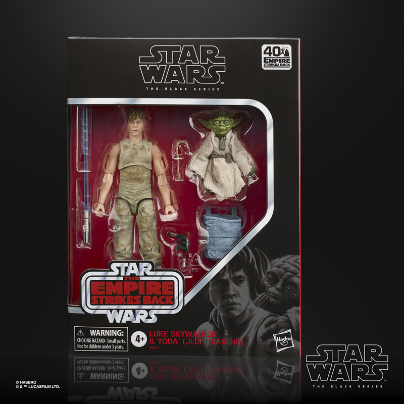 star wars the black series 6-inch luke skywalker and yoda (jedi training) deluxe figures - in pck-sm