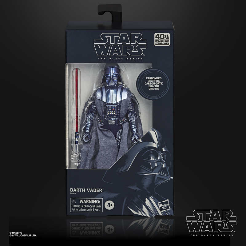 star wars the black series carbonized collection 6-inch darth vader figure - in pck-sm