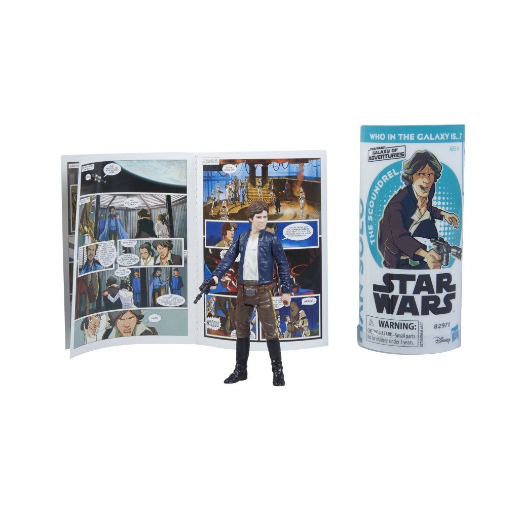 STAR WARS GALAXY OF ADVENTURES HAN SOLO Figure and Mini Comic (2)