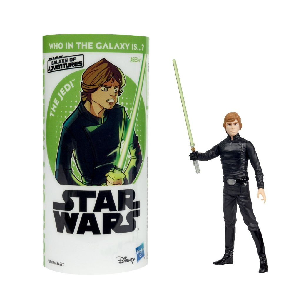STAR WARS GALAXY OF ADVENTURES LUKE SKYWALKER Figure and Mini Comic (1)