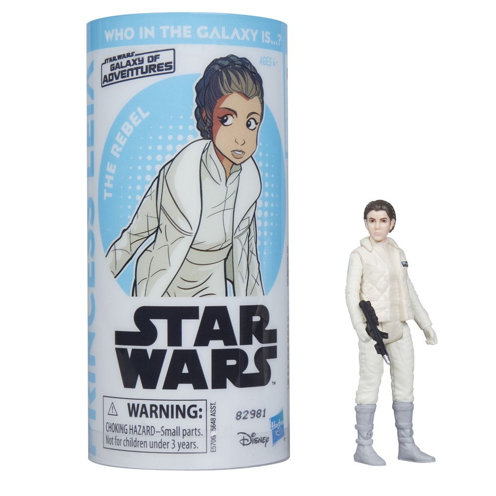 STAR WARS GALAXY OF ADVENTURES PRINCESS LEIA Figure and Mini Comic (1)