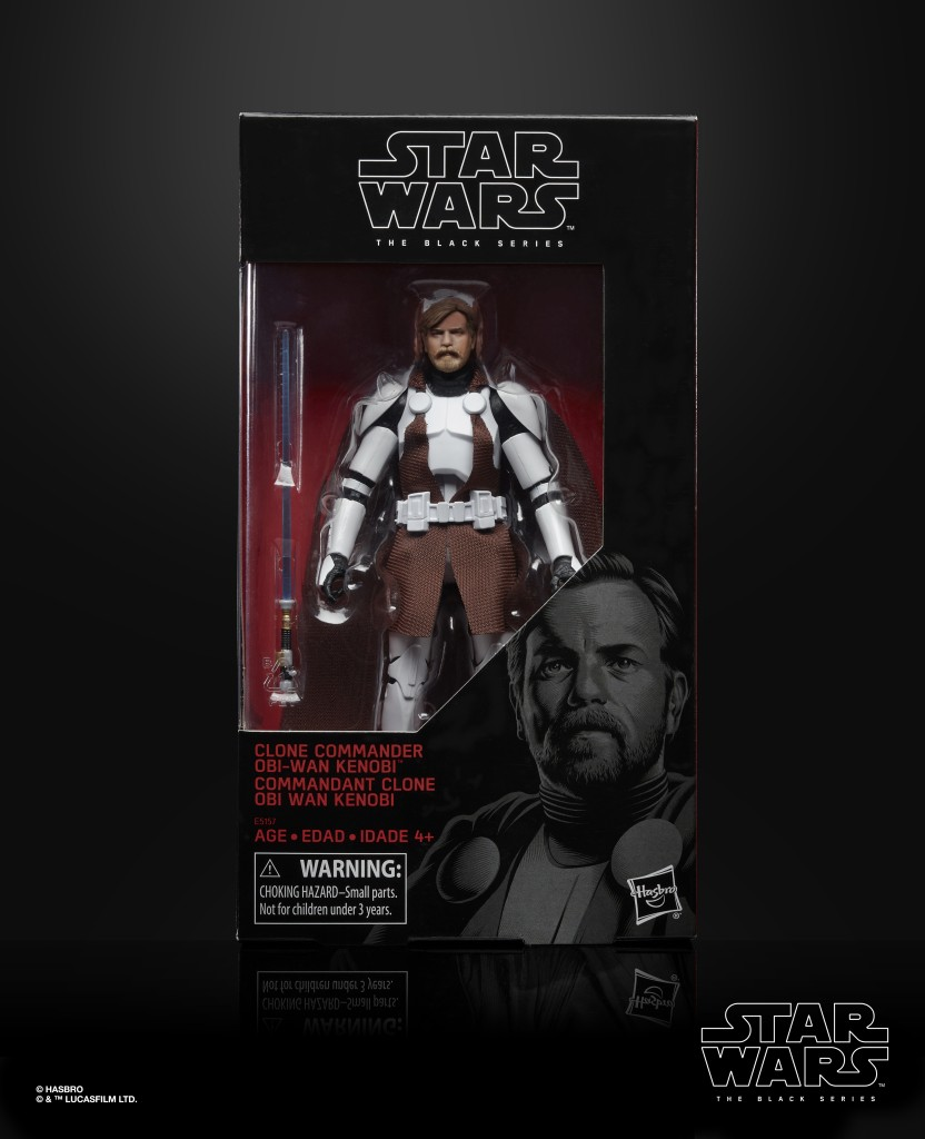 STAR WARS THE BLACK SERIES 6-INCH CLONE COMMANDER OBI-WAN KENOBI Figure (in pck 1)
