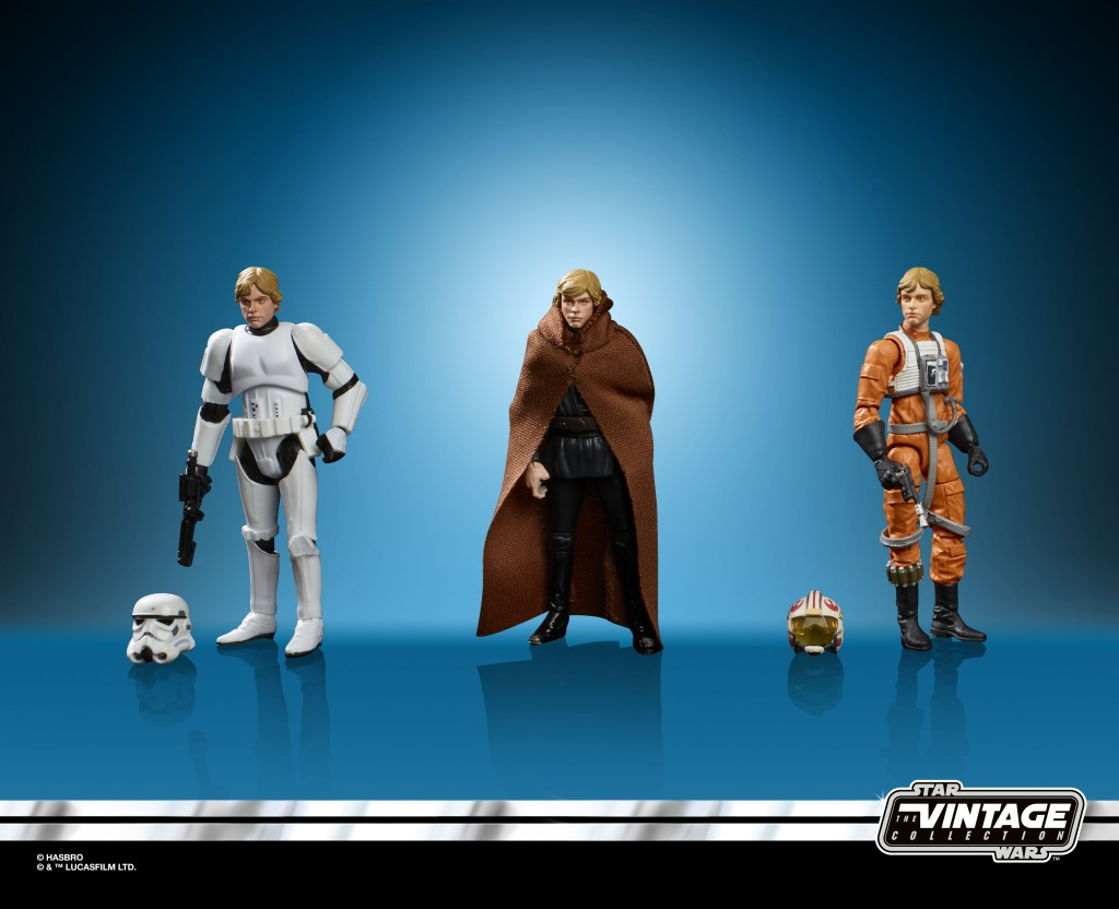 STAR WARS THE VINTAGE COLLECTION 3.75-INCH ORIGINAL TRILOGY LUKE SKYWALKER JEDI DESTINY Figure Set - oop (1)