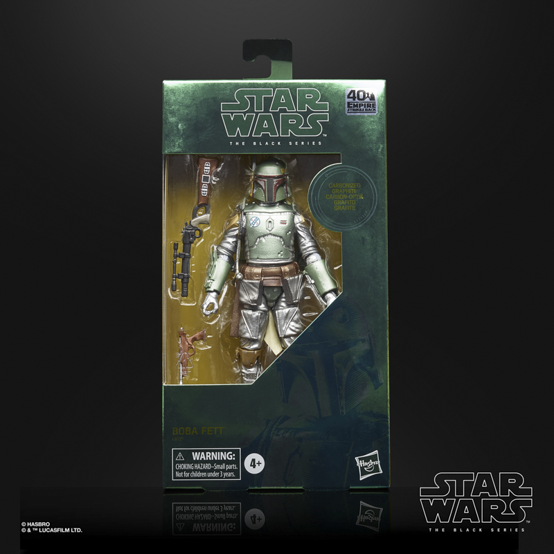star wars the black carbonized collection 6-inch boba fett figure - in pck-sm