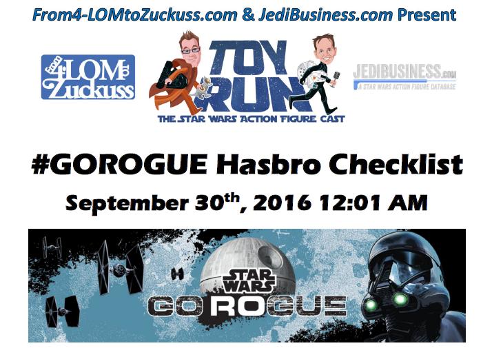 Your #GoRogue Hasbro Pocket Guide Checklist