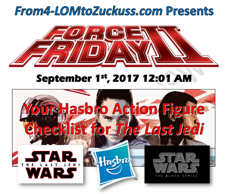 Your Force Friday II Checklist